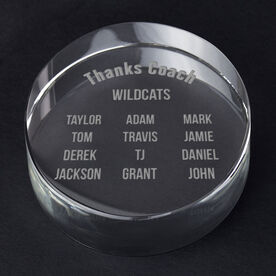 General Sports Personalized Engraved Crystal Gift - Roster