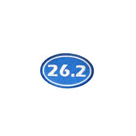 Marathon 26.2 Iron-on Patch - Blue