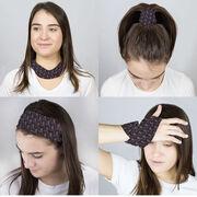Running Multifunctional Headwear - Girl Stick Figure Pattern Black RokBAND