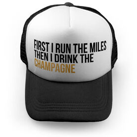 Running Trucker Hat - Then I Drink The Champagne