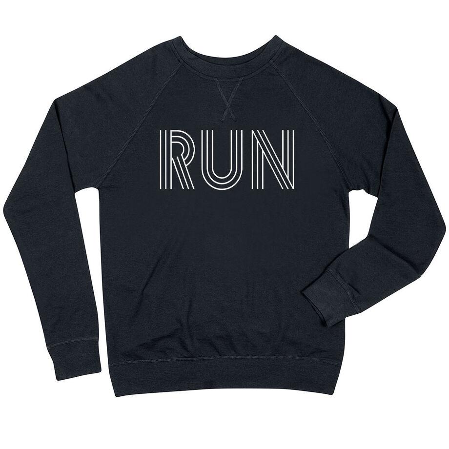Running Raglan Crew Neck Sweatshirt - Run Lines