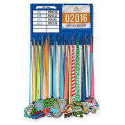 Running Large Hooked on Medals and Bib Hanger - Dry Erase My PRS Marathon Silhouette