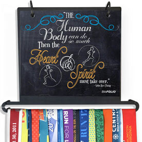 BibFOLIO Plus Race Bib and Medal Display - The Human Body Can Do So Much Chalkboard