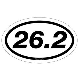 26.2 Marathon Car Magnet - White