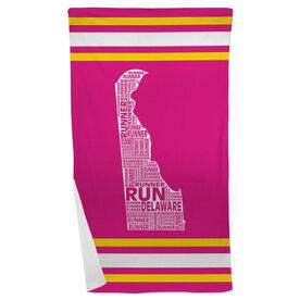 Running Beach Towel Delaware State Runner