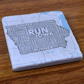 Iowa State Runner Stone Coaster