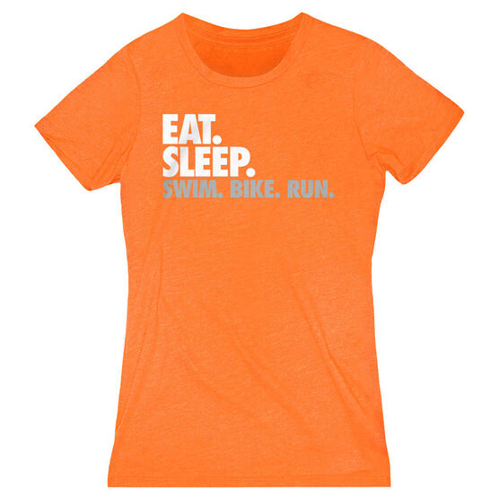 Women's Everyday Runners Tee - Eat. Sleep. Swim. Bike. Run.