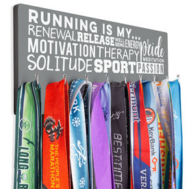Running Hooked on Medals Hanger - Running Is My Passion