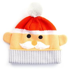 Happy Hatter Santa Knit Beanie Hat