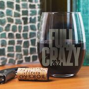 Running Stemless Wine Glass 26.2 Full Crazy