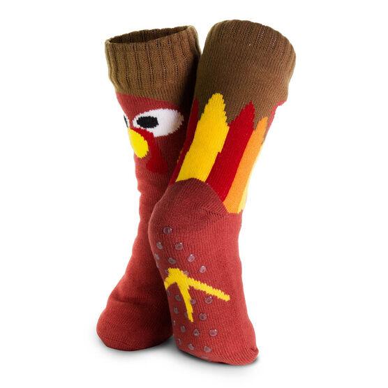 Turkey Slipper Socks with Sherpa Lining