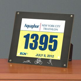 BibDISPLAY - Runners Race Bib Frame - Tri Girl Stick Figures