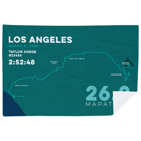 Running Premium Blanket - Personalized Los Angeles Map