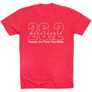 Running Short Sleeve T-Shirt - Marathoner 26.2 Miles