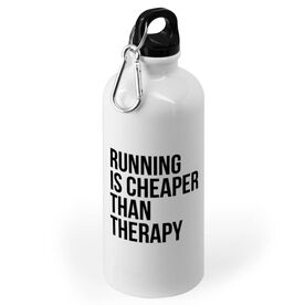Running 20 oz. Stainless Steel Water Bottle - Running is Cheaper Than Therapy