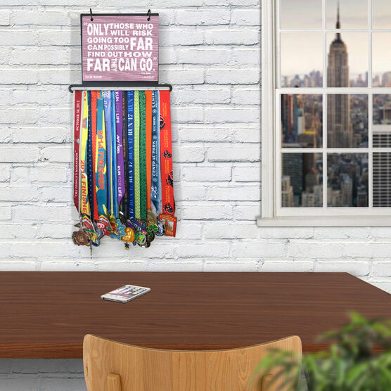 BibFOLIO+™ Race Bib and Medal Display Going Too Far (Rustic)