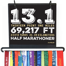 BibFOLIO+™ Race Bib and Medal Display - 13.1 Math Miles