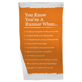 Running Beach Towel You Know You're A Runner When