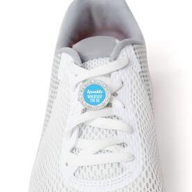Running Rhinestone Shoe Charm - Sparkle Wherever You Go