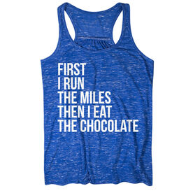 Flowy Racerback Tank Top - Then I Eat The Chocolate