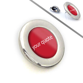 Running Lapel Pin Your Quote