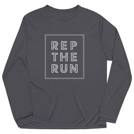 Men's Running Long Sleeve Performance Tee - Rep The Run