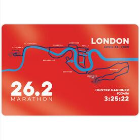 "Running 18"" X 12"" Wall Art - Personalized London Map"