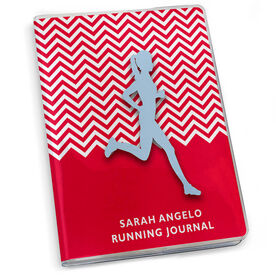 GoneForaRun Running Journal - Chevron Runner Girl