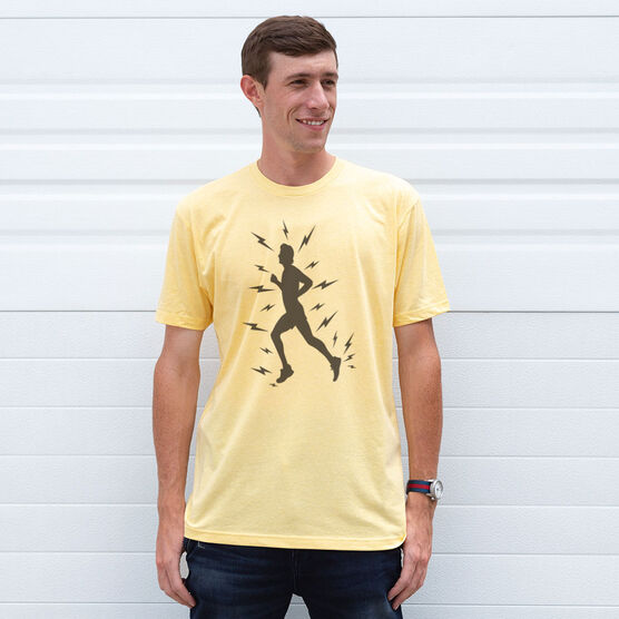 Vintage Running T-Shirt - Lightning Runner