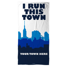 Running Beach Towel I Run This Town
