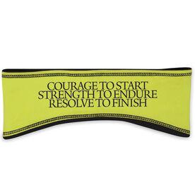 Running Reversible Performance Headband Courage Strength Resolve