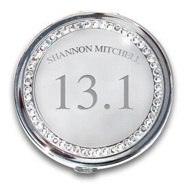 Silver Personalized 13.1 Compact Mirror