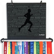 BibFOLIO+™ Race Bib and Medal Display Running Inspiration - Male