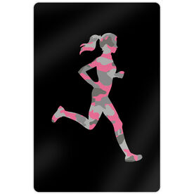 "Running 18"" X 12"" Aluminum Room Sign - Camouflage Female Silhouette"