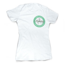 Vintage Running Fitted T-Shirt - Pacific Northwest Ladies Running Group Logo