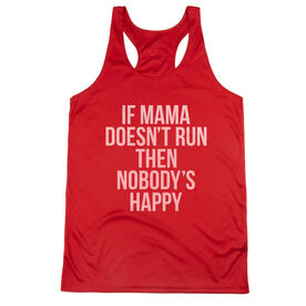 Women's Racerback Performance Tank Top - If Mama Doesn't Run