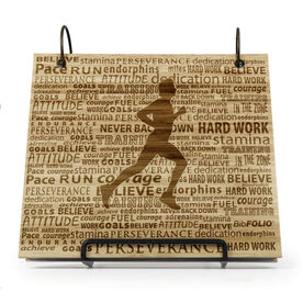 Engraved Bamboo Wood BibFOLIO® Race Bib Album - Running Inspiration Male