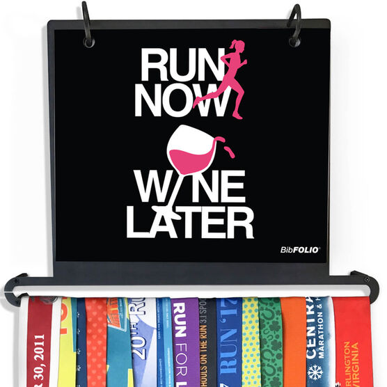BibFOLIO Plus Race Bib and Medal Display Run Now Wine Later