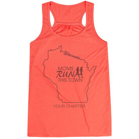 Flowy Racerback Tank Top - Moms Run This Town Wisconsin Runner