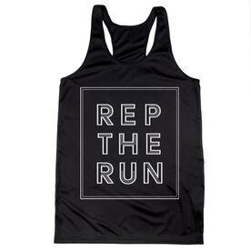 Women's Racerback Performance Tank Top - Rep The Run