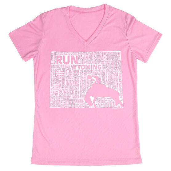 Women's Running Short Sleeve Tech Tee Wyoming State Runner