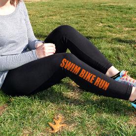 Triathlon Leggings Swim Bike Run