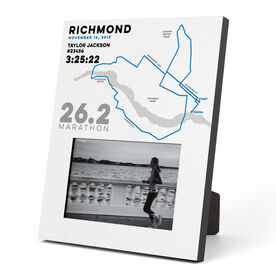 Running Photo Frame - Personalized Richmond Map