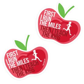 Running Stickers - Then I Teach The Kids (Set of 2)