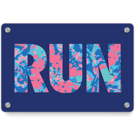 Running Metal Wall Art Panel - Run Floral