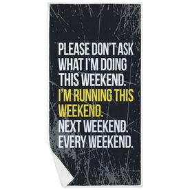 Running Premium Beach Towel - Don't Ask Me