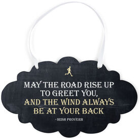 Running Cloud Sign - May The Road Rise Up To Greet You