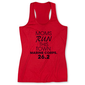 Women's Performance Tank Top - Moms Run This Town Marine Corps. 26.2
