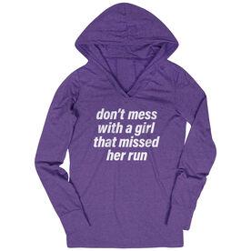 Women's Running Lightweight Performance Hoodie - Don't Mess With A Girl