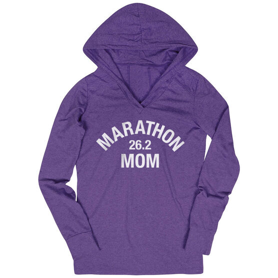 Women's Running Lightweight Performance Hoodie - Marathon 26.2 Mom